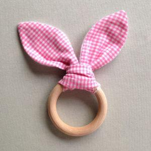 bijtring-baby-kraancadeautjes-roze-stof