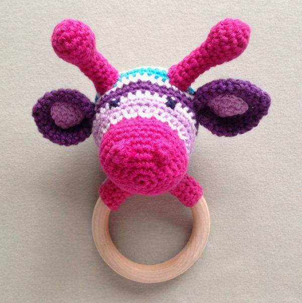 bijtring-gehakte-giraf-multicolor-baby-kraamcadeautje