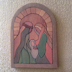 Schilderijetje-kerst-kerstfeest-josefenmaria-kerstmis-jezus-hout-weihnachten