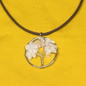 Levensboom-ketting-Rosekwarts-edelsteentjes-edelsteen