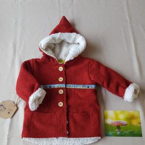 rood-jasje-100%wol-babyjasje-kabouterjasje-natuurlijkmateriaal--handgemaakt-handmade