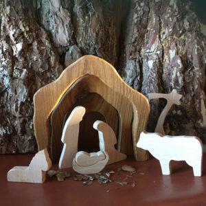 Kerstgroep-josef-Maria-Jezus-Jesus-os--ezel-Weinachten-24december-