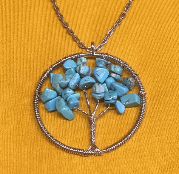 Levensboom-2-turkoois-hangertje-sieraad,ketting