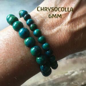 Edelsteen-Chrysocolla-6mm-armbandje-edelsteenkralen-paars-