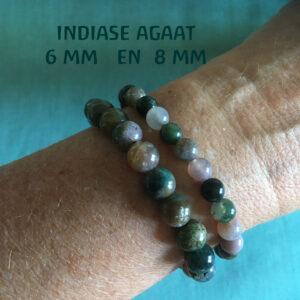 Edelsteen-Indiase-Agaat-6mm-armbandje-edelsteenkralen-paars-