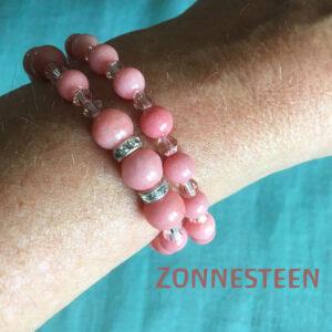 Edelsteen-Zonnesteen-armbandje-edelsteenkralen-paars-